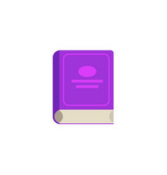Flat closed book icon vector