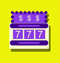 Flat icon design collection jackpot machine vector