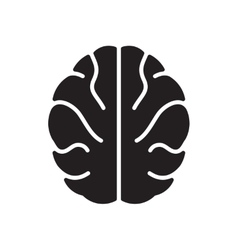 Flat icon in black and white human brain vector