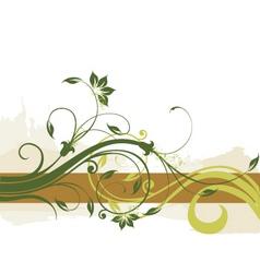 floral border background vector image