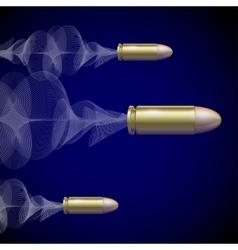 Fly Pistol Bullet Background Concept vector image