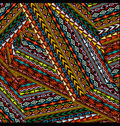 geometrical ethnic motifs background vector image