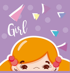 Girl beatiful face vector