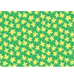 Grunge pattern with small flowers and leafs vector image