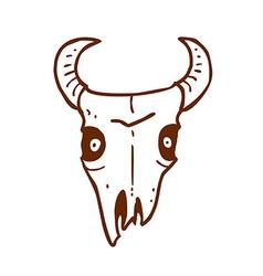 Hand Drawn Bull Skull vector image