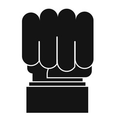 hand protest icon simple black style vector image