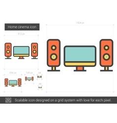 Home cinema line icon vector
