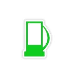 Icon sticker realistic design on paper refill vector
