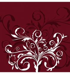 illustration the floral decor element vector image