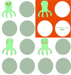 lovely octopuses vector image
