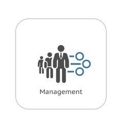 Management Icon Flat Design vector image