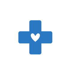 Medical cross related glyph icon vector