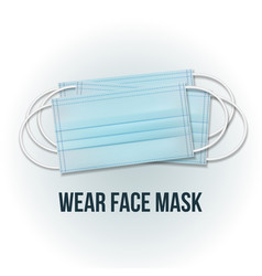 medical mask protective face mask for breath vector image
