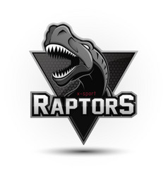 Modern professional dinosaur logo for a sport team vector
