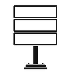 multi billboard icon simple style vector image