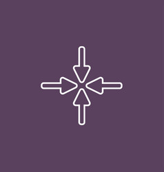 New flat arrow vector