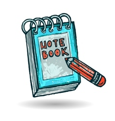 Note Book Sketch vector