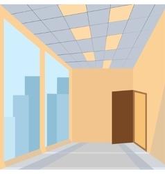office with door vector image vector image