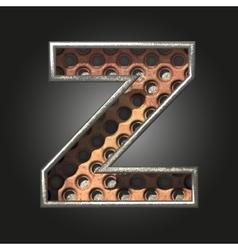 old metal letter z vector image