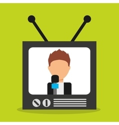 old tv device icon vector image