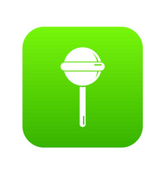 round lollipop icon green vector image