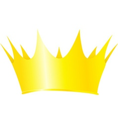 Royal crown isolated on white background vector image