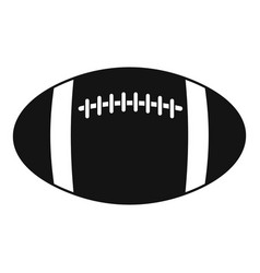 Rugball icon simple style vector