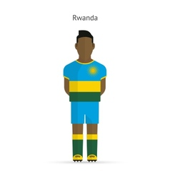 Rwanda football player Soccer uniform vector