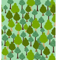 Seamless forest pattern Cartoon tree background vector image