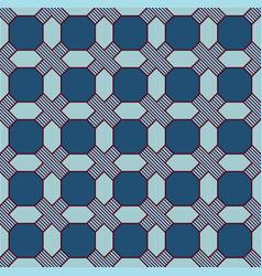 Seamless geometric pattern in blue vector