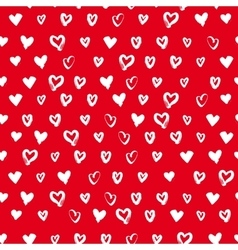 Seamless hand drawn hearts vector