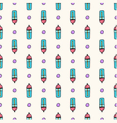 Seamless pattern with sport water bottles vector
