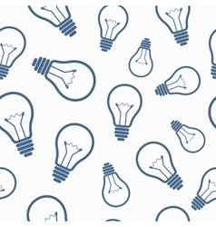 Simple light bulb seamless pattern vector image