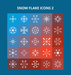 snow flake icons vector image