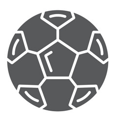 soccer ball glyph icon sport and equipment vector image