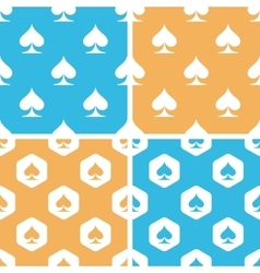 Spades pattern set colored vector image