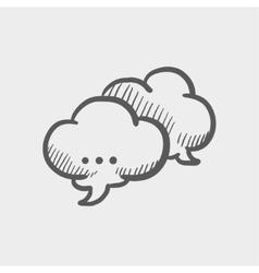Speech cloud sketch icon vector image