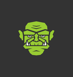 Stylized portrait of the orc vector