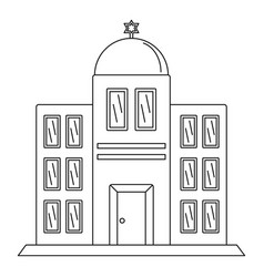 synagogue icon outline style vector image