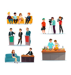 Talk show participants set vector