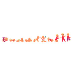 Toddler growth process baby development infant vector