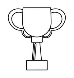 Trophy ball winner award outline vector