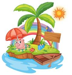 Vacation Island vector