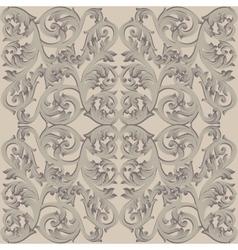 Vintage Baroque damask floral pattern acanthus vector image