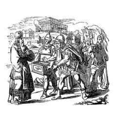 vintage drawing biblical story judas vector image