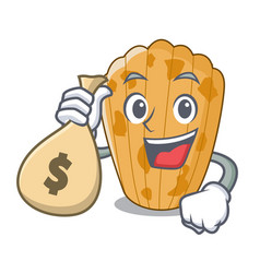 with money bag cookies in the form madeleine vector image