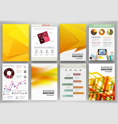 yellow business backgrounds and abstract concept vector image