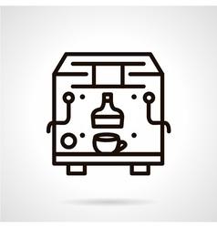 Black line coffee machine icon vector image