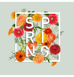 Floral spring graphic design vector