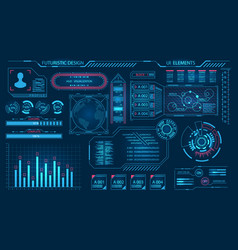 futuristic virtual graphic user interface hud vector image